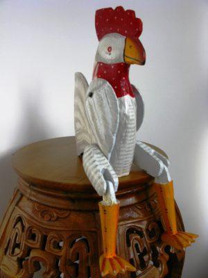 Charlie the wooden chicken 40cm