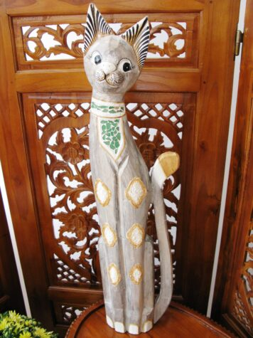 Cleopatra the wooden cat 80cm