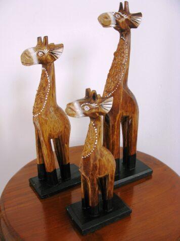 Gazza the wooden giraffe set