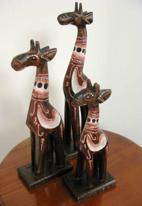 Gladys the wooden giraffe set