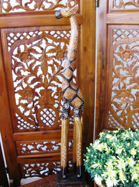 Gideon the wooden giraffe 100cm