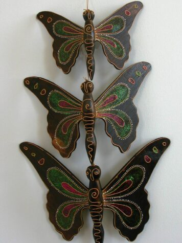 Basil the wooden butterfly set